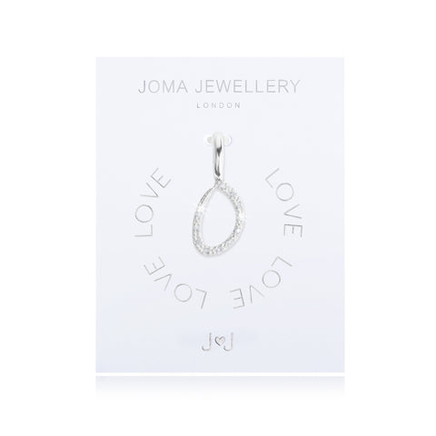 Joma Alphabet  Pave Charm Initial O - Violetmai Jewellery and Gifts