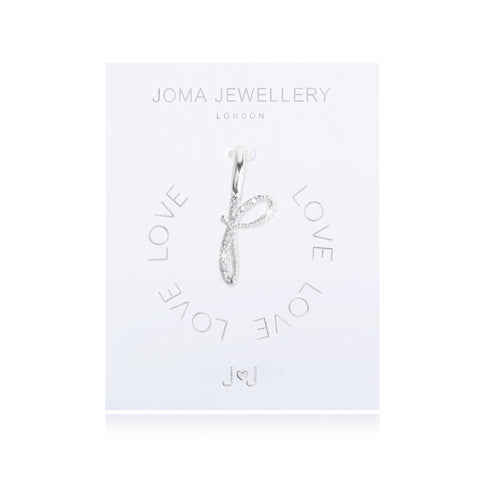 Joma Alphabet  Pave Charm Initial P - Violetmai Jewellery and Gifts