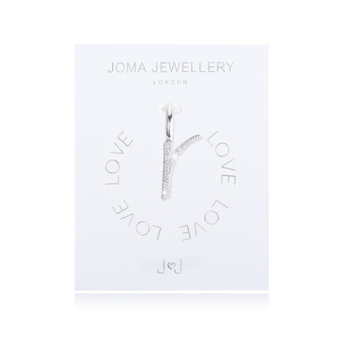 Joma Alphabet  Pave Charm Initial R - Violetmai Jewellery and Gifts