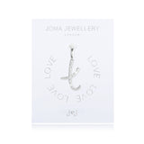 Joma Alphabet  Pave Charm Initial V - Violetmai Jewellery and Gifts