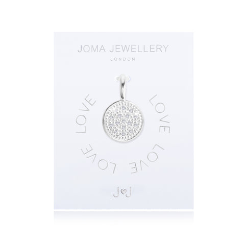 Joma Alphabet Pave Disk charm - Violetmai Jewellery and Gifts