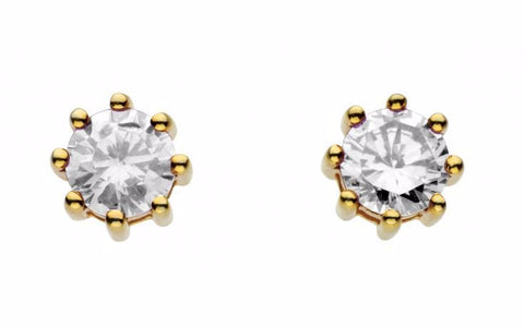 Dew Sterling Silver CZ Claw Studs - Violetmai Jewellery and Gifts
