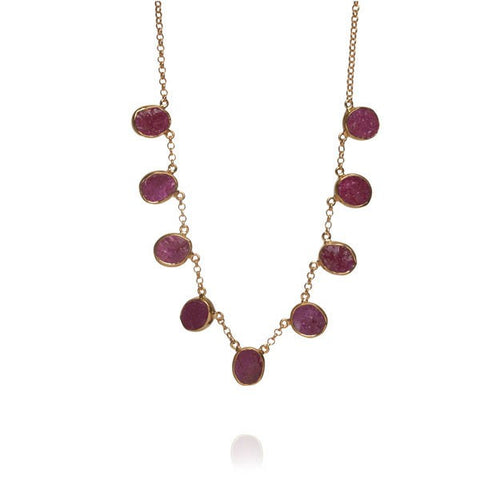 01466a9d3648a Tullulah Rough Cut Ruby Gemstone Necklace – Violetmai Jewellery and ...