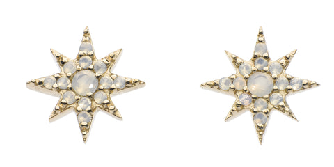 Dew Gold plated Star Opalite Studs