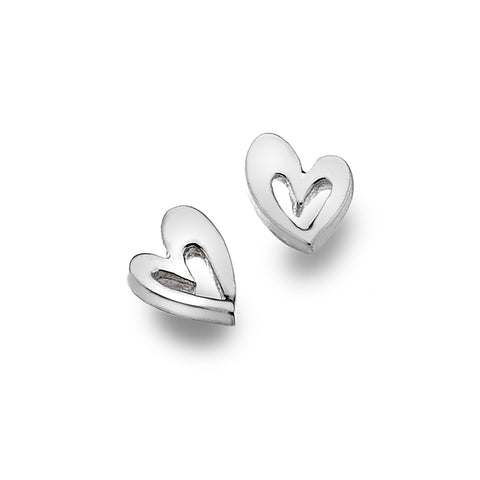 Pure Origins Sterling Silver Heart Studs