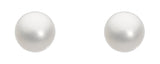 Dew Sterling Silver & Freshwater medium pearl studs - Violetmai Jewellery and Gifts