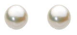 Dew Silver and Freshwater Large Pearl Studs - Violetmai Jewellery and Gifts