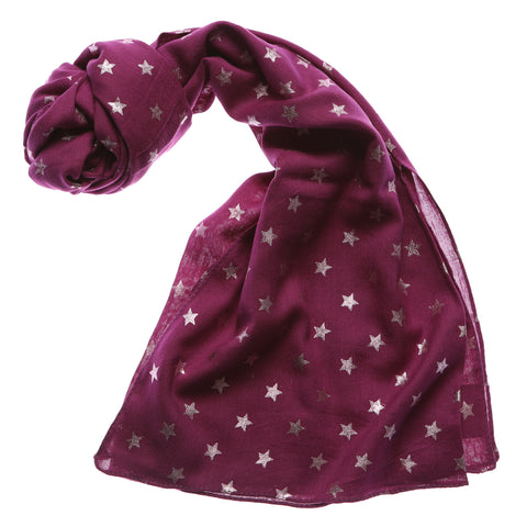 Shruti Metallic Star Scarf
