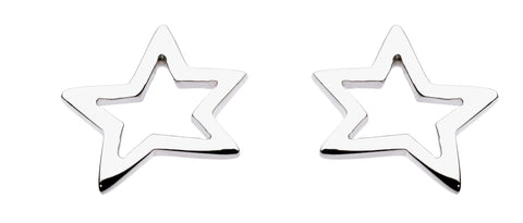 Dew  Sterling Silver Star Studs - Violetmai Jewellery and Gifts