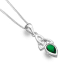 Celtic Lands Green Crystal Necklace, May - Violetmai Jewellery and Gifts