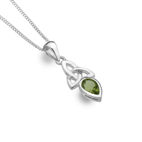 Celtic Lands Sterling Silver Peridot Necklace, August - Violetmai Jewellery and Gifts
