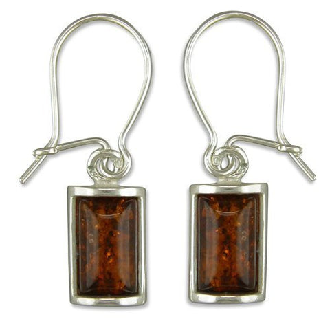 Square Amber earrings - VIOLETMAI
