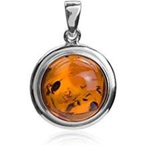 Baltic Amber Round Pendant - Violetmai Jewellery and Gifts