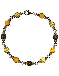 Amber tricolour circles bracelet - Violetmai Jewellery and Gifts
