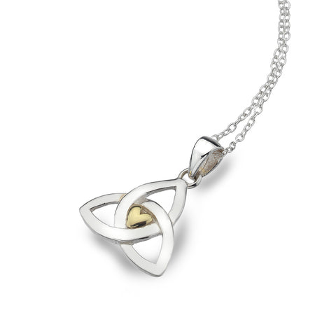Celtic Lands Sterling Silver Celtic  Love Knot Pendant with Chain - Violetmai Jewellery and Gifts