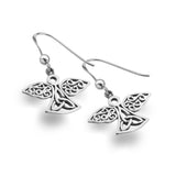 Celtic Lands Sterling Simple Angel Earrings - Violetmai Jewellery and Gifts