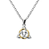 Celtic Lands Sterling Silver Celtic Knot Pendant with Chain - Violetmai Jewellery and Gifts