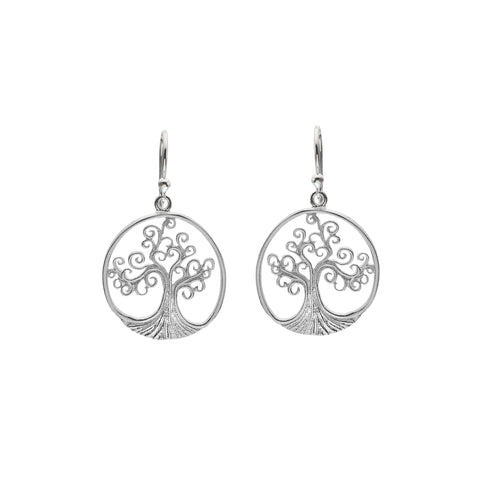 Celtic Lands Sterling Spiral Tree of Life Earrings - Violetmai Jewellery and Gifts