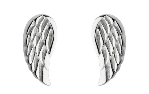 dainty angel wing studs - Violetmai Jewellery and Gifts