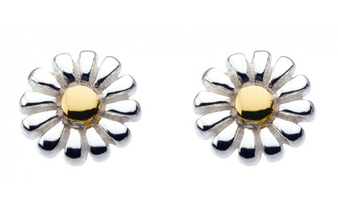 Dew  Sterling Silver Daisy Detail Studs - Violetmai Jewellery and Gifts