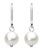 Dew  Sterling Silver  & Freshwater Button Pearl Drop Set - Violetmai Jewellery and Gifts