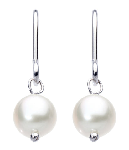 Dew  Sterling Silver  & Freshwater Button Pearl Drop Set