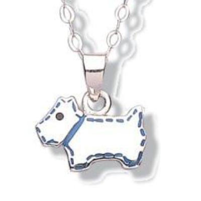 Jo for girls scottie dog pendant - Violetmai Jewellery and Gifts