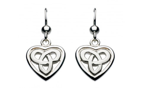 Heritage Aamor Celtic Heart Earrings - Violetmai Jewellery and Gifts