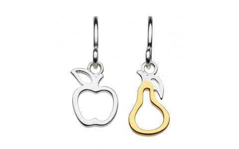 Dew Sterling Silver Apple And Pear Earrings - Violetmai Jewellery and Gifts