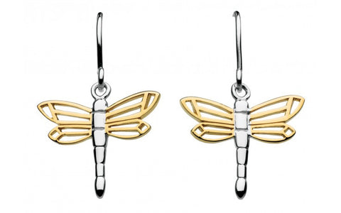 Dew Sterling Silver Dragonfly Earrings - Violetmai Jewellery and Gifts