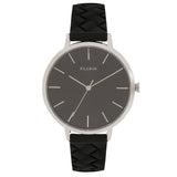 Pilgrim Aster_ PI Silver Plated Black Watch