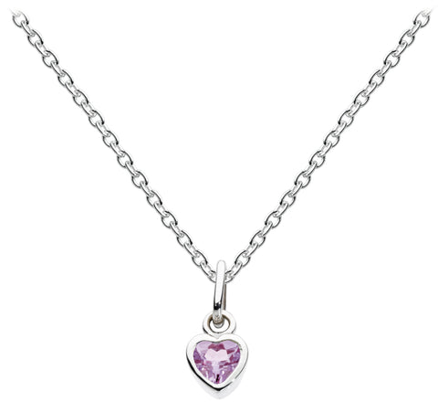 Dew Sterling Silver Crystal Heart Necklace - Violetmai Jewellery and Gifts