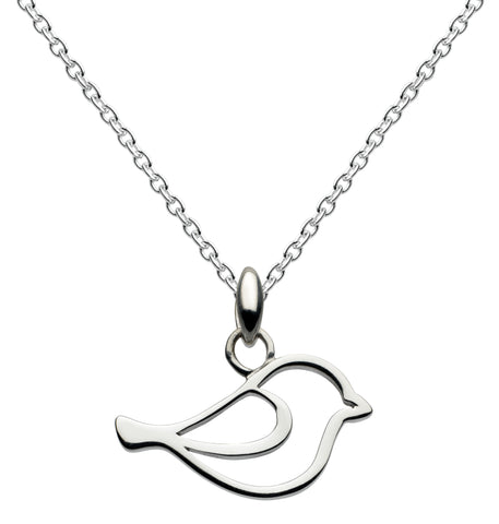 Dew Sterling Silver Bird Necklace - Violetmai Jewellery and Gifts
