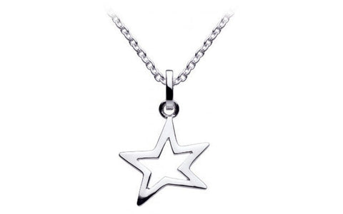 Dew  Sterling Silver Cutout Star Necklace - Violetmai Jewellery and Gifts