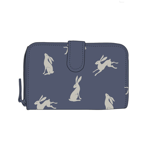 RSPCA Oilcloth Hare Purse in Blue