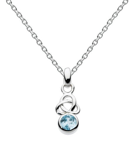 Heritage Stu Kalin Small  Silver and Blue Topaz Trilogy necklace - Violetmai Jewellery and Gifts
