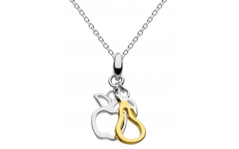 Dew Sterling Silver Apple And Pear Necklace - Violetmai Jewellery and Gifts