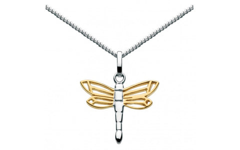 Dew Sterling Silver Dragonfly Necklace - Violetmai Jewellery and Gifts