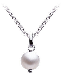 Dew  Sterling Silver Single Freshwater Pearl Necklace - Violetmai Jewellery and Gifts