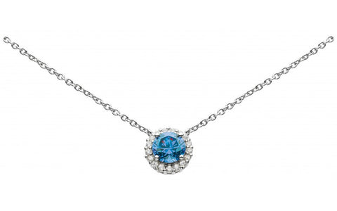Dew  Sterling Silver Cluster Blue Spinel Necklace - Violetmai Jewellery and Gifts