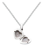 Dew Sterling Silver Puff Heart Locket - Violetmai Jewellery and Gifts