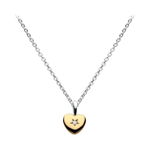 Kit Heath Kids Heart of Gold Diamond Necklace
