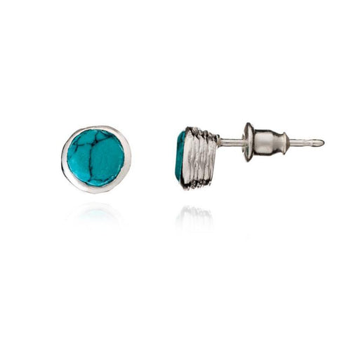 Azuni Athena Turquoise Studs - Violetmai Jewellery and Gifts