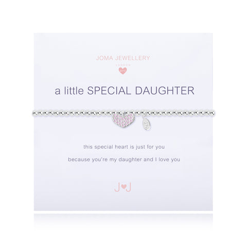 JOMA girls A Little Special Daughter Bracelet - Violetmai Jewellery and Gifts