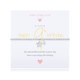 Joma Girls A Little Happy 9th  Birthday Bracelet - Violetmai Jewellery and Gifts