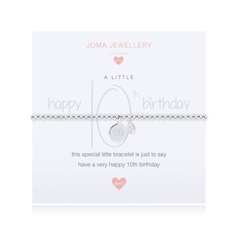 Joma Girls A Little Happy 10th  Birthday Bracelet - Violetmai Jewellery and Gifts