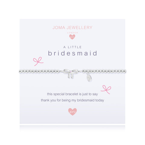 Joma Girls A Little Bridesmaid Bracelet - Violetmai Jewellery and Gifts