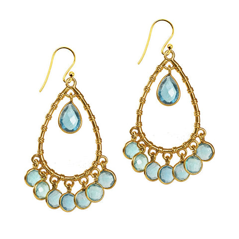Clara Earrings with Apatite - Violetmai Jewellery and Gifts
