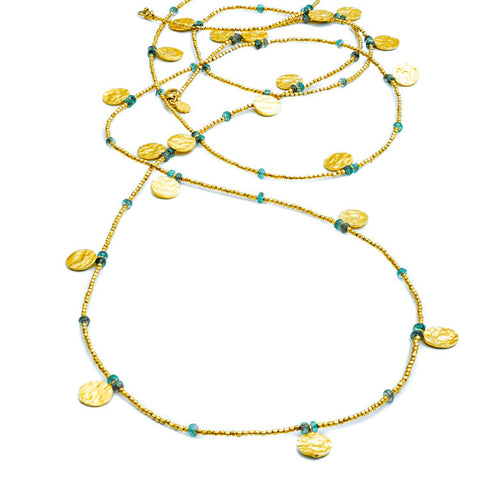Long Necklace: Apatite by Azuni
