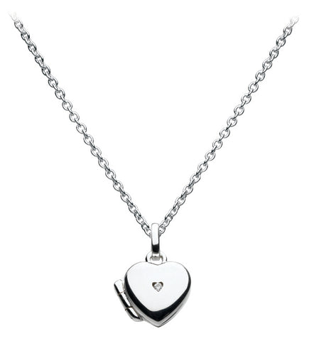 Kit Heath Kids Sterling Silver Diamond Heart Locket